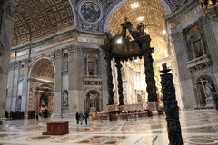 Saint Peter's cathedral at the Vatican, Rome, Italy Stock Photos