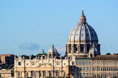 Saint Peter's cathedral in Vatican (Rome) Royalty Free Stock Images