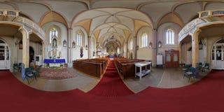 Saint Peter's Catholic Church Interior in Cluj-Napoca, Romania. 360 panorama of the interior of Saint Peter's Catholic Church in Cluj-Napoca, Romania Stock Photos