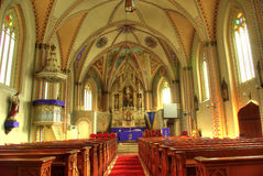 Saint Peter's church. Interior of Saint Peter's church in Cluj Napoca, Romania stock photo