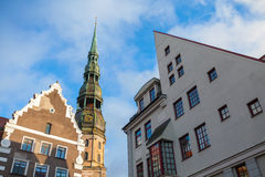 Saint Peter's Church in Riga center. Latvia Royalty Free Stock Images