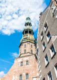 Saint Peter's Church in Riga, Latvia Stock Photos