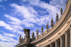 Saint Peter's columnade. A particular of Saint Peter's in Rome Royalty Free Stock Images