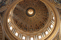 Saint Peters Dome Over Vatican Cathedral Royalty Free Stock Photos