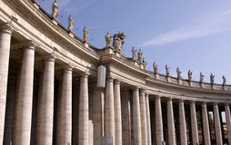 Saint Peter's Square Colonnade Royalty Free Stock Photo