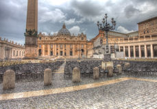 Saint Peter's square in dramatic lighting Stock Photo