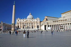 Saint Peter's Square (Italian: Piazza San Pietro) Stock Photography