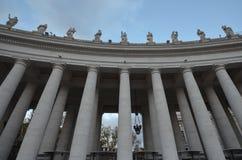 Saint Peter`s Square, landmark, column, classical architecture, building. Saint Peter's Square is landmark, building and ancient roman architecture. That marvel stock images