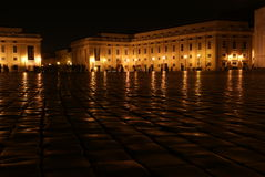 Saint Peter's square at night Royalty Free Stock Photo