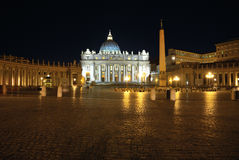 Saint Peter's Square at night Stock Photos