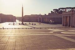 Saint Peter's square stock image