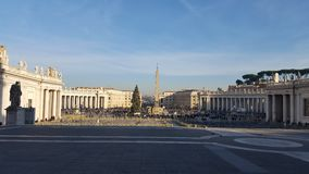 Saint Peter´s square Royalty Free Stock Image
