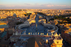 Saint Peter's Square in Rome Stock Photography