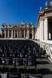 Saint Peter's square Stock Images