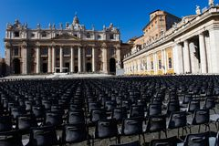 Saint Peter's square Royalty Free Stock Images