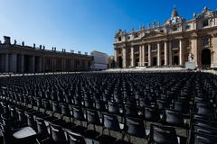 Saint Peter's square Stock Image