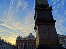 Saint Peter's Square. In Rome, Italy stock photos