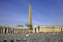 Saint peter's square rome italy egyptian column Stock Image