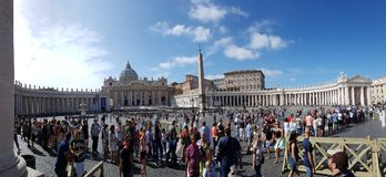 Saint Peter`s Square, Saint Peter`s Basilica, reflection, water, sky, tourist attraction stock images