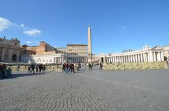 Saint Peter`s Square, sky, town square, landmark, town. Saint Peter`s Square is sky, town and city. That marvel has town square, plaza and building and that royalty free stock image