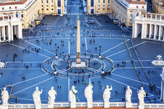 Saint Peter`s Square Statues Roof Saint Vatican Rome Italy Stock Photography