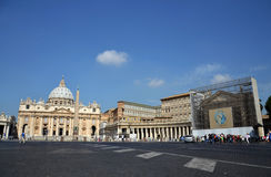 Saint Peter's Square in Vatican Royalty Free Stock Images