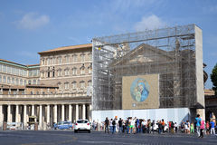Saint Peter's Square in Vatican Royalty Free Stock Photos
