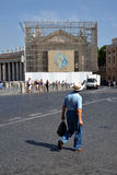Saint Peter's Square in Vatican Stock Photos