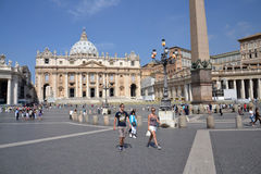 Saint Peter's Square in Vatican Stock Photo