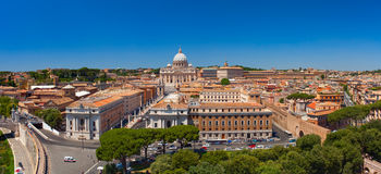 Saint Peter`s Square and Vatican aerial view. Stock Photo