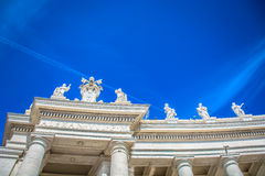 Saint Peter's square Vatican city. Royalty Free Stock Image