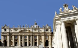 Saint Peter's square, Vatican City Royalty Free Stock Photo