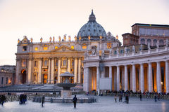 Saint Peter's Square in Vatican City (Rome, Italy) Stock Photo