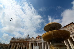 Saint Peters Square. Vatican City Stock Image