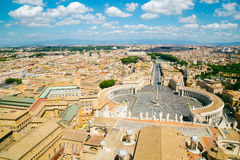 Saint Peter's square in Vatican City Royalty Free Stock Image