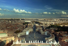 Saint Peter`s Square in Vatican Royalty Free Stock Photo