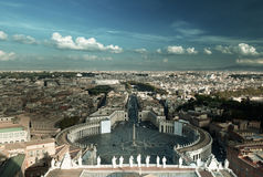 Saint Peter`s Square in Vatican Royalty Free Stock Images