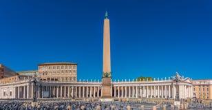 Saint Peter`s Square  in Vatican Rome Stock Photos