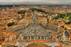 Saint Peter's Square,Vatican, Rome, Italy. Stock Photos
