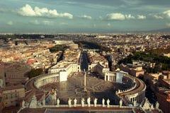 Saint Peter's Square in Vatican, Rome Stock Photos
