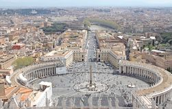 Saint Peter's Square-view from the Dome Royalty Free Stock Image