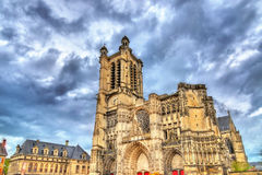 Saint Peter and Saint Paul Cathedral of Troyes in France Royalty Free Stock Images