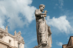 Saint Peter sculpture near same name Basilica Stock Photo