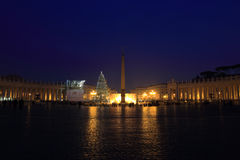 Saint Peter Square at night Stock Photography
