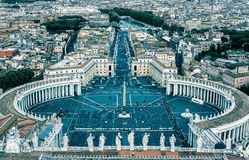 Saint Peter square in Vatican City, Rome royalty free stock images