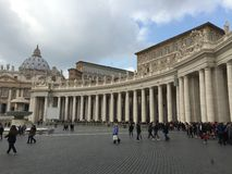 Saint Peter square in Vatican Royalty Free Stock Images