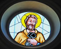 Saint Peter-Stained Glass Royalty Free Stock Photography