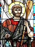 Saint Peter. Stained glass image of St. Peter Stock Photography
