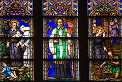 Saint Peter Stained Glass St. Patrick's Cathedral Royalty Free Stock Photography