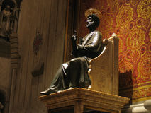 Saint Peter statue. In the basilica of Vatican in Rome Stock Photos